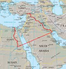 map wade to euphrates